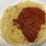副菜(漬け物・蒸し卵)の仕込みと夜ご飯(スパゲティ)