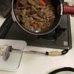ゴボウと豚小間の煮物