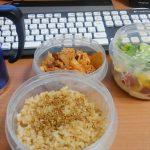 家で食べる豚キムチ弁当