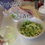 動画「レンチン小松菜とお漬物 」