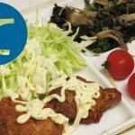 動画「お弁当の準備をしながらチキンカツ定食」