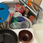 動画「頑張って皿洗い」