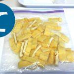 動画「蕪のぬか漬け と 味噌汁用の蕪の葉と油揚げの冷凍」