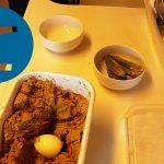 動画「皿洗いしてぬか床からオクラを取り出しゆで卵を漬ける」