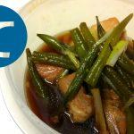 動画「カレー用豚肉で角煮」