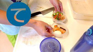 動画「ぬか漬けと焼鮭のお弁当」