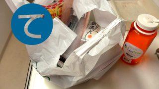 動画「お弁当おじさんの日曜のお買い物袋拝見」