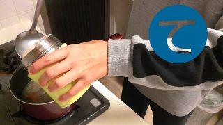 動画「新しいランチバッグでスープのお弁当」