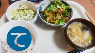 動画「三が日最後の夕飯は回鍋肉定食」