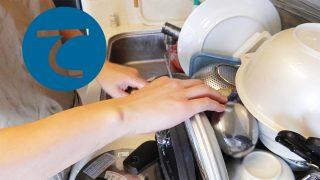 動画「ガチでノーカット皿洗い」