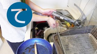 動画「だべりながら食後の皿洗い」