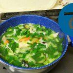 動画「雑用していたら手羽先の野菜スープができた」