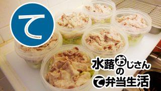動画「お皿洗ってからお弁当用冷しゃぶサラダ」