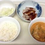 「白菜の浅漬け」と「晩ご飯の焼肉定食」