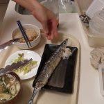 秋刀魚定食と根菜の煮物で秋を満喫