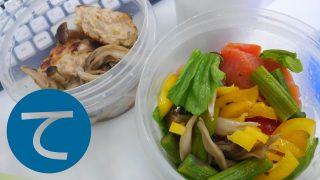 動画「レンチン常備菜と山盛りサラダのお弁当」