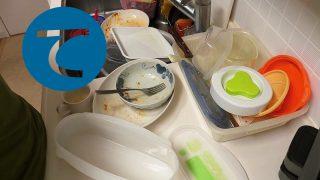 動画「やらかしの皿洗い配信。私は生活音が大好きだ!」