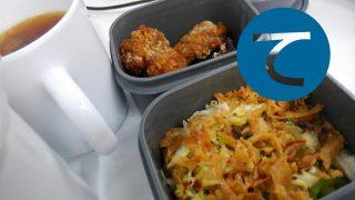動画「牡蠣フライと唐揚げのお弁当」