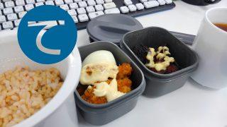 動画「牡蠣フライと唐揚げとゆでたまごのタンパク質弁当」