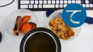 動画「野菜スープと焼鮭のお弁当」
