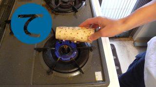 動画「糠をひっかきまわしてご飯をセット」