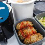動画「ハンバーグを作ってそのままお弁当の準備」