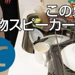 動画「あの大物スピーカーと一緒に皿洗い!」