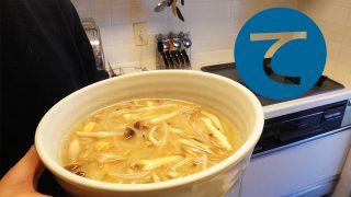 動画「会社に持っていくお茶を用意して朝ごはんにお味噌汁」