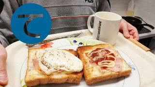 動画「朝のトーストとインスタントスープあるある」