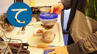 動画「朝ごはんとハンバーグ弁当」