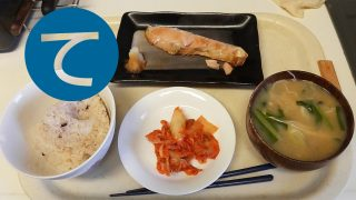 動画「朝からマッタリと焼鮭定食」